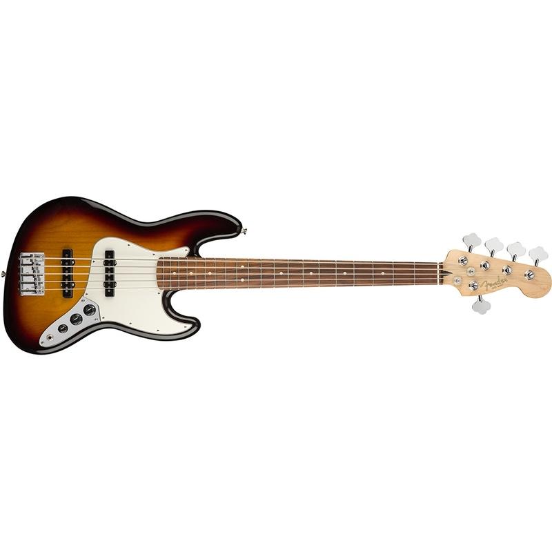 Fender Player Jazz Bass V 5-String, Pau Ferro Fingerboard - 3-Color Sunburst