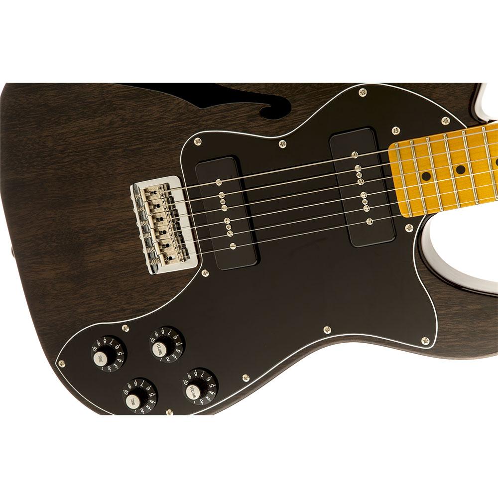 Fender Modern Player Telecaster Thinline Deluxe Maple Fingerboard Black Transparent