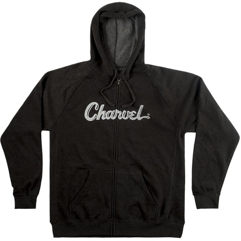 Charvel Guitars Logo Hoodie, Charcoal, XL, Extra Large
