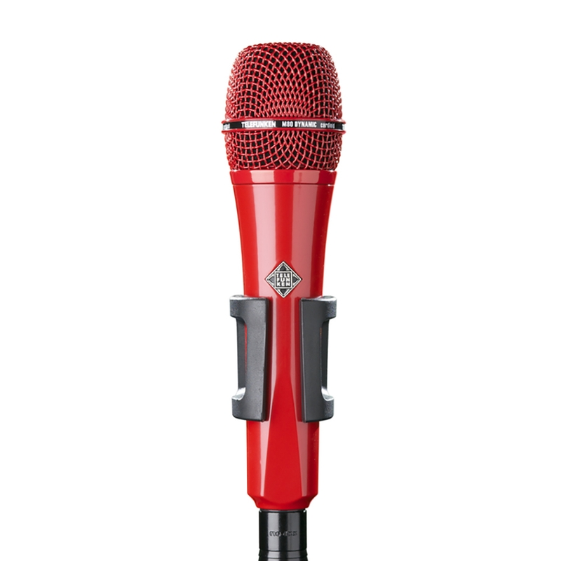 Telefunken M80 Super Charged Dynamic Microphone in Sparkle Red
