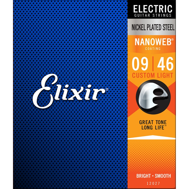 Elixir 12027 Nanoweb Custom Light Electric Guitar Strings (9-46)