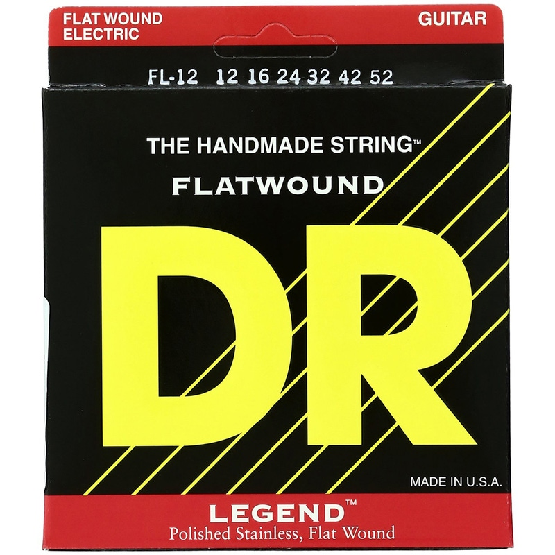 DR Strings FL-12 Legend Light Flatwound Electric Guitar Strings (12-52)