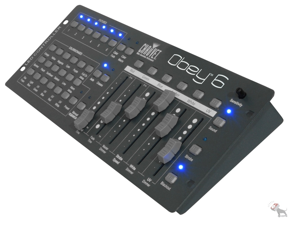Chauvet Obey 6 36-Channel DMX Universal DJ Lighting Controller Up To 6 Fixtures