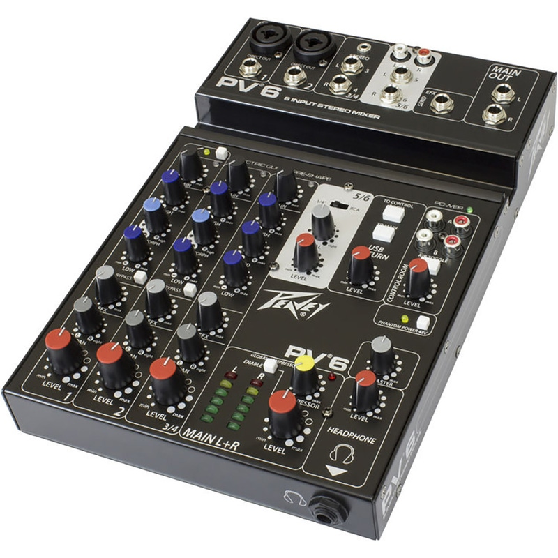 Peavey PV6 6-Input Stereo Mixer (New Version)