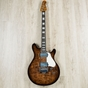 Ernie Ball Music Man BFR Valentine Guitar, Ebony Fretboard, Walnut Flame Finish