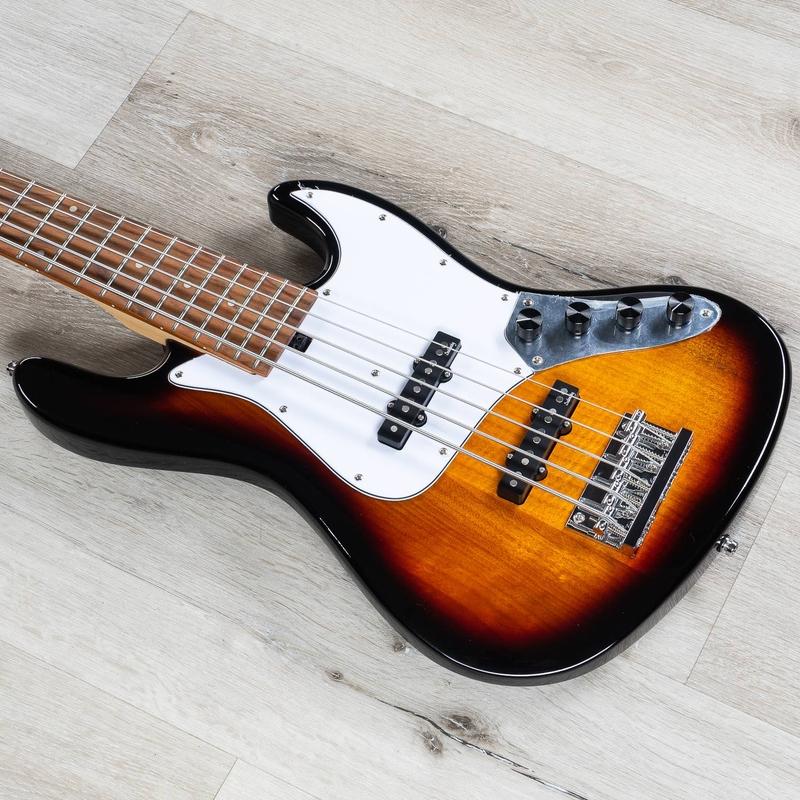 Sadowsky MetroExpress 21-Fret Vintage J/J 5-String Bass, Morado Fingerboard, Tobacco Burst Transparent High Polish