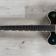 Gretsch G6609TG Players Edition Broadkaster Center Block Double-Cut Guitar w/ String-Thru Bigsby and Gold Hardware, USA Full'Tron Pickups, Cadillac Green
