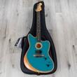 Fender American Acoustasonic Jazzmaster Guitar, Ocean Turquoise, Ebony Fingerboard