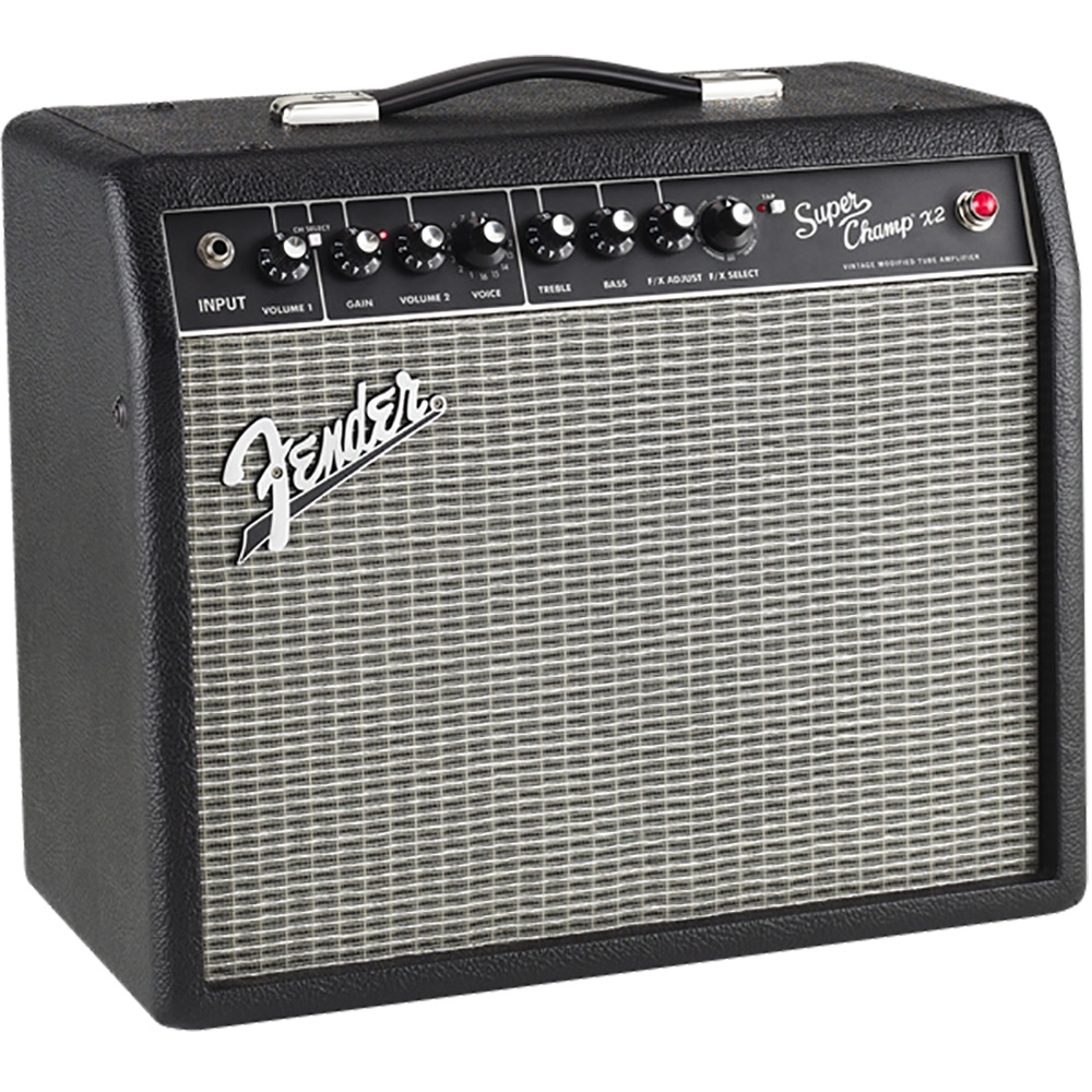 pitbull audio fender super champ x2 15 watt 1x10 guitar combo amplifier. Black Bedroom Furniture Sets. Home Design Ideas