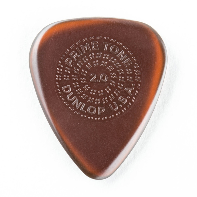 Dunlop 510P20 Primetone Standard Guitar Picks with Grip, 2.0mm (3‑Pack)