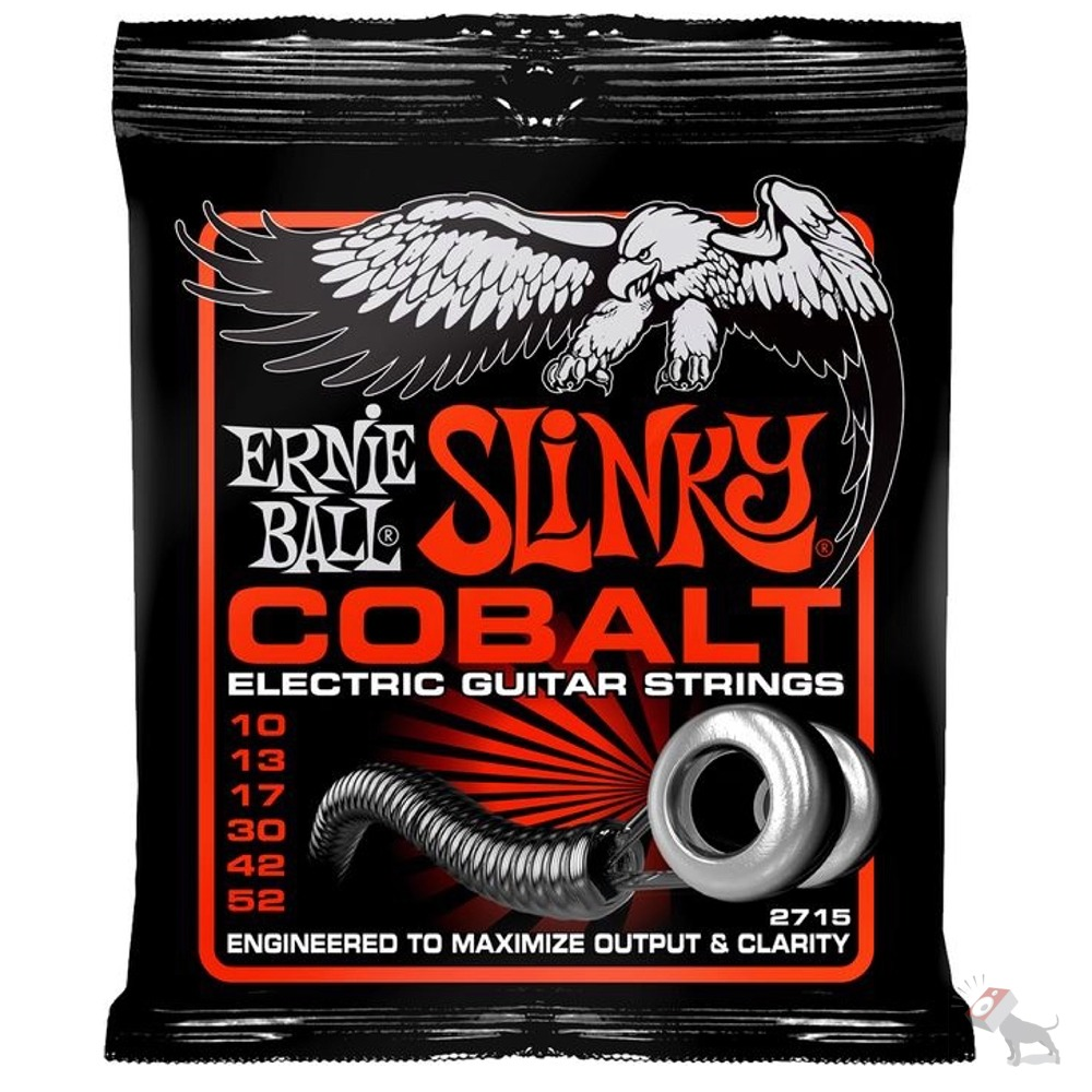 ernie ball 2715 cobalt skinny top heavy bottom electric guitar strings 10 52 ebay. Black Bedroom Furniture Sets. Home Design Ideas