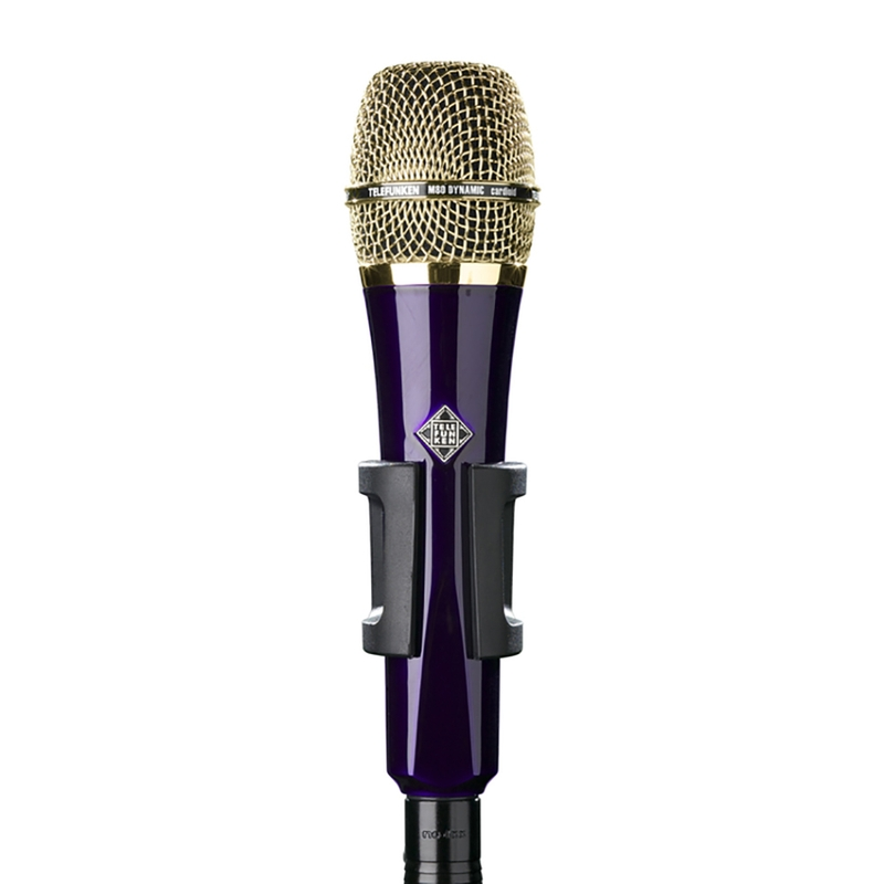 Telefunken M80 Super Charged Dynamic Microphone with Purple Body and Gold Grille