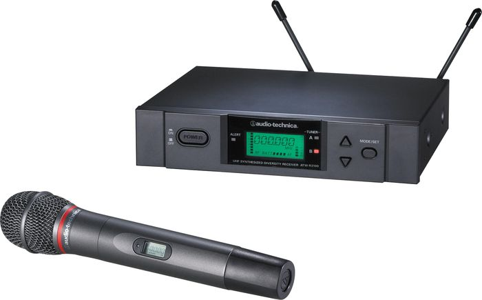 Audio-Technica ATW-3141BD 3000 Series Frequency-agile True Diversity UHF Wireless Handheld Microphone System; Band D (655.500 - 680.375 MHz)