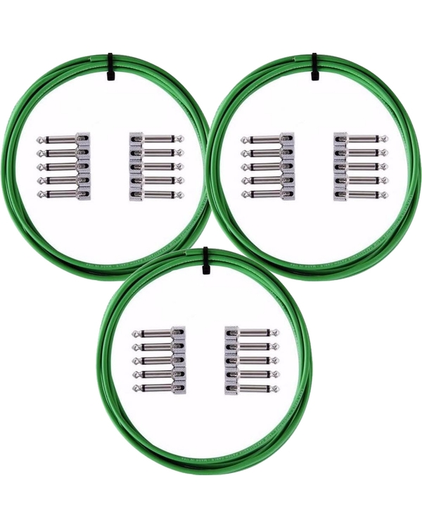 LAVA Cable Tightrope Solder-Free Patch Kit 30' Cable 30 RA Plugs (Green)