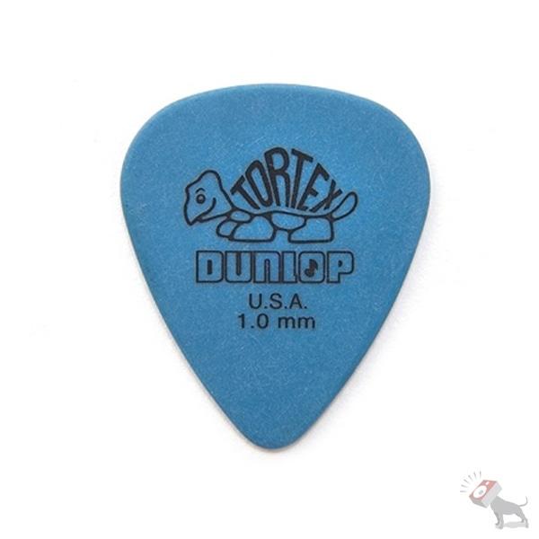72 Jim Dunlop USA 418R1.0 Tortex Standard 1.0mm Blue Guitar Picks
