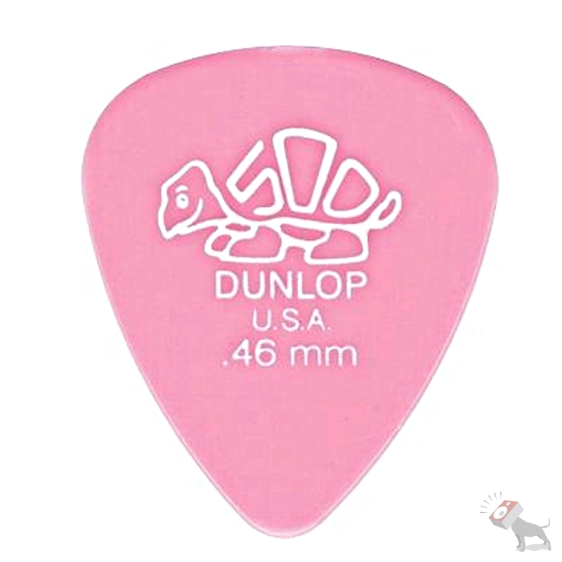 72 Jim Dunlop USA 41R.46 Delrin 500 Standard Tortex 0.46mm Pink Guitar Picks