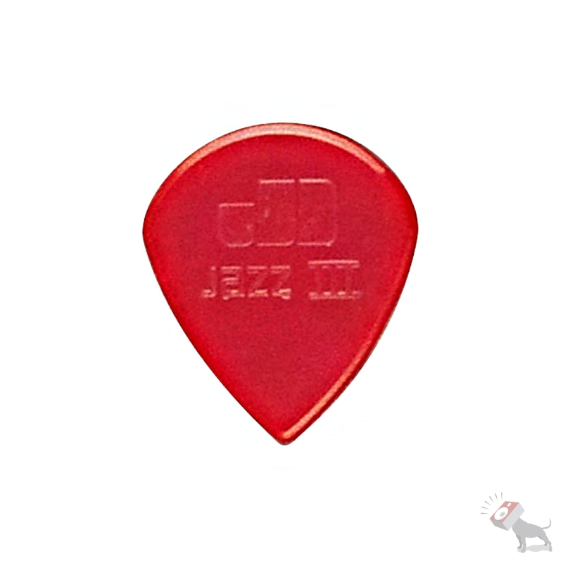 24 Jim Dunlop USA 47R3N Nylon Jazz III Pack Red Guitar Picks