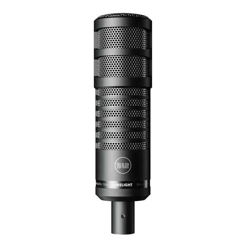 512 Audio Limelight Dynamic, Hypercardioid, Vocal XLR Microphone For Podcasting, Broadcasting, and Streaming