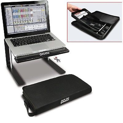 Akai Professional Foldable Laptop Stand for Performance DJ Production With Bag