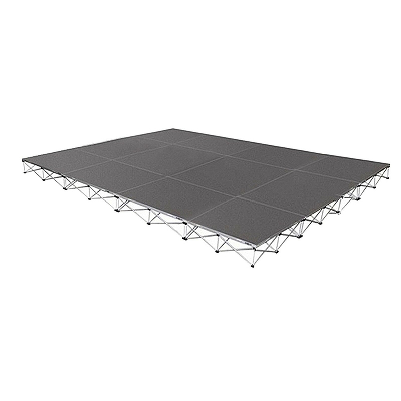 Intellistage ISTAGE121624T Stage Package, 16ft x 12ft, 24'' High, Tuff Coat Deck
