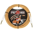 Pig Hog PCH102OC Orange Creme 2.0 Guitar Bass Cable, 10ft, Straight-Straight
