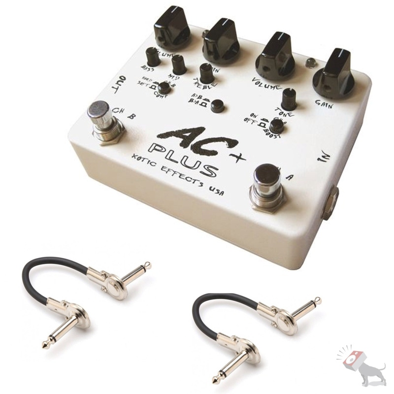 Xotic Effects AC Plus 2-Channel Overdrive Guitar Effects Pedal w/ 2 FREE Cables