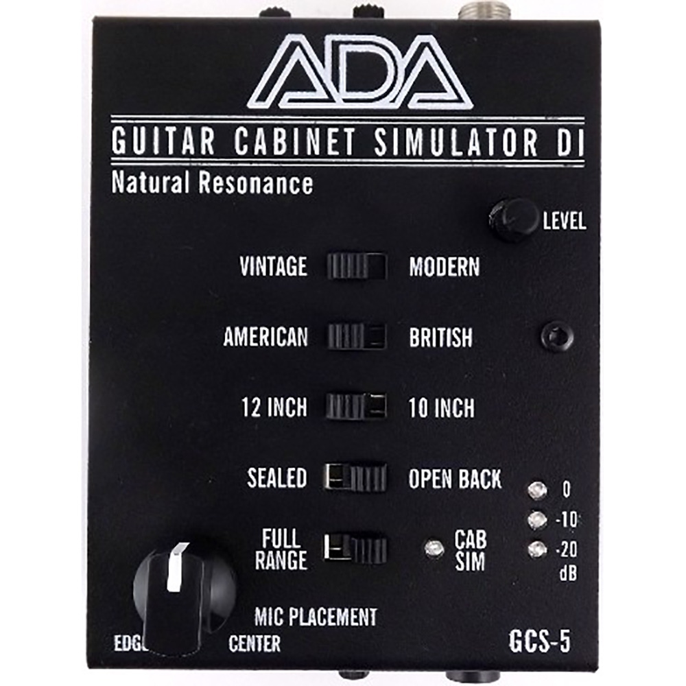 pitbull audio ada gcs 5 guitar cabinet simulator di box and 9v adapter. Black Bedroom Furniture Sets. Home Design Ideas