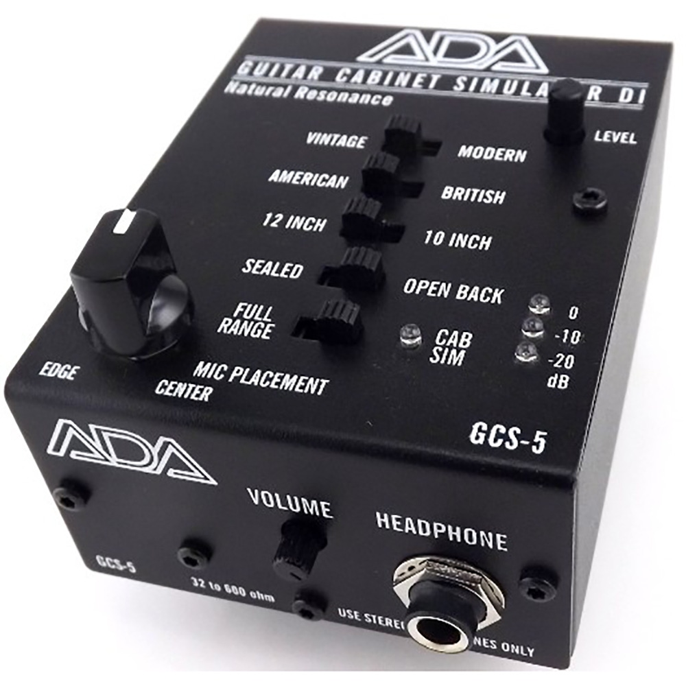 pitbull audio ada gcs 5 guitar cabinet simulator di box and 9v adapter. Black Bedroom Furniture Sets. Home Design Ideas