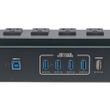 ADJ American DJ Utility Power Block, 6 AC Power Sockets, 4-Port USB 3.0 Hub