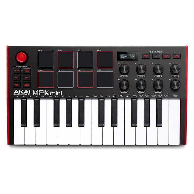 Akai Professional MPK Mini MK3 25-Key / 8-Knob Compact MIDI Keyboard Controller, Original