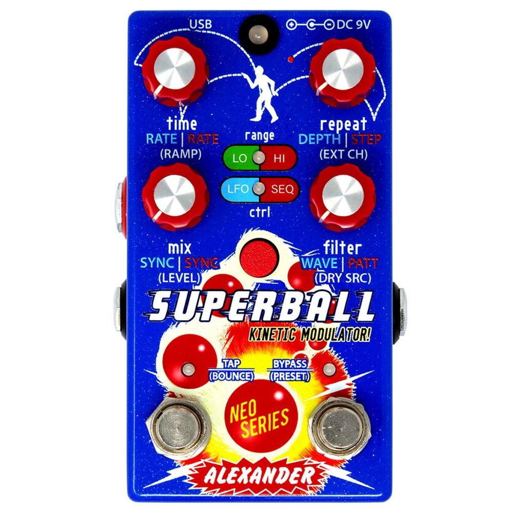 Alexander Pedals Superball Kinetic Modulator Guitar Effects Pedal