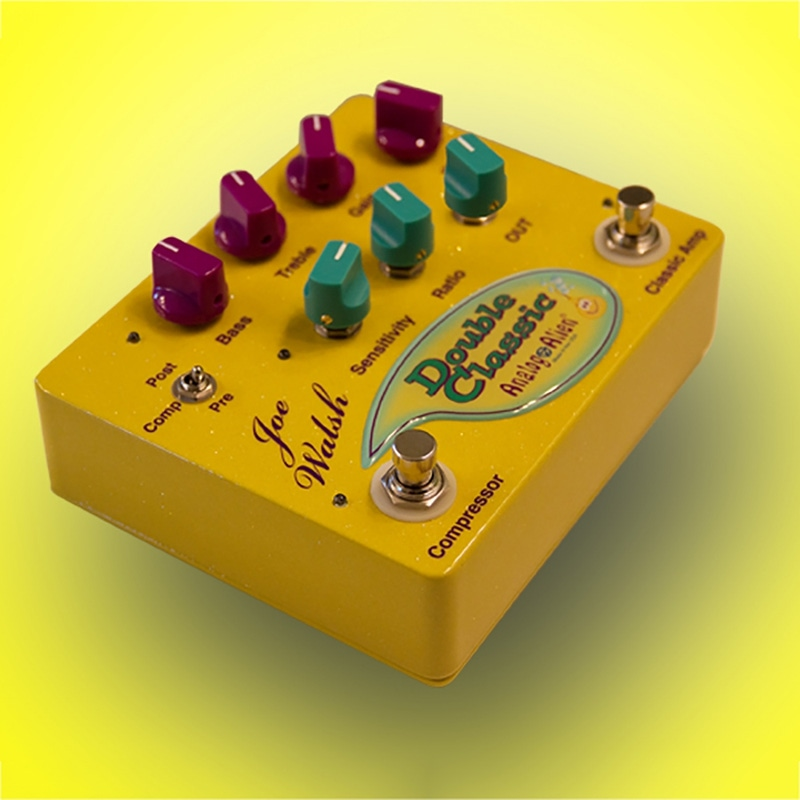 Analog Alien Joe Walsh Double Classic Compressor/Overdrive and Amp Simulator Guitar Effects Pedal