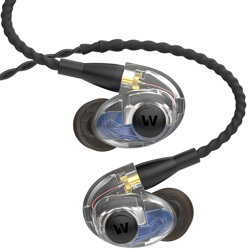 Westone AM PRO 20 Double-Driver In-Ear Monitor Earphones with Passive Ambience - Clear/Black