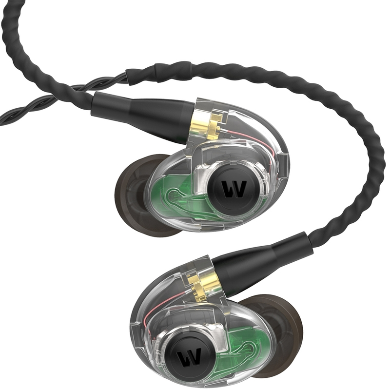 Westone AM PRO 30 Triple-Driver In-Ear Monitor Earphones with Passive Ambience - Clear/Black