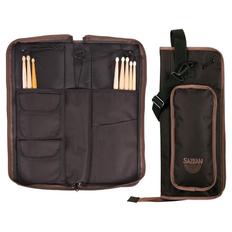 Sabian AS1BB Arena Stick Bag - Black with Brown