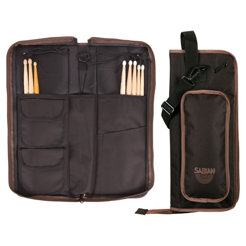 Sabian AS1BB Arena Stick Bag - Black with Brown