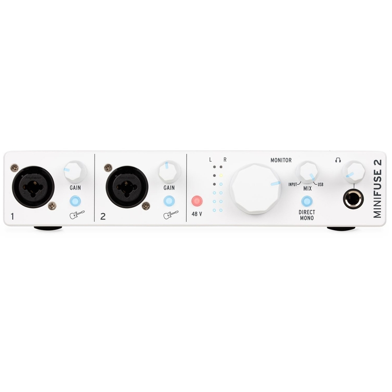 Arturia MiniFuse 2 2-In/2-Out USB-C Audio Interface w/ 2x XLR Combo Inputs, White
