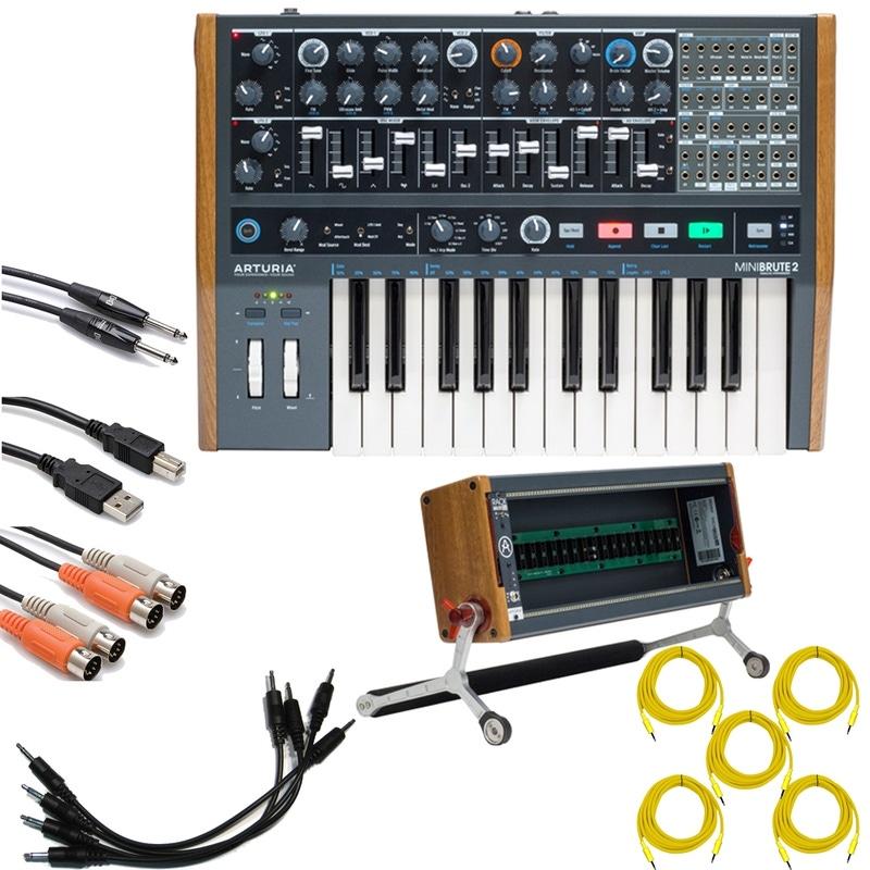 Modular Synth Case : pitbull audio arturia minibrute 2 semi modular synthesizer with rackbrute 3u eurorack case and ~ Hamham.info Haus und Dekorationen