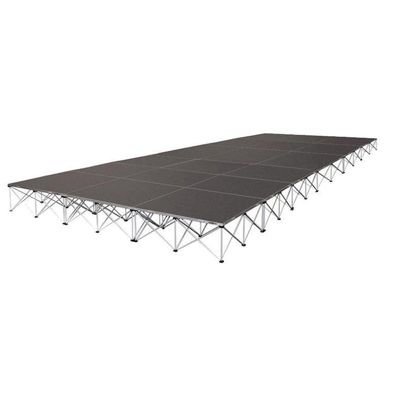 Intellistage ISTAGE122424T Stage Package, 24ft x 12ft, 24'' High, Tuff Coat Deck