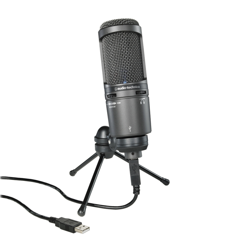 Audio-Technica AT2020USB+ Plus Cardioid Condenser USB Microphone