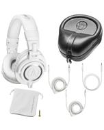 Audio Technica M50X Monitor DJ Studio Headphones White & Protective Hard Case