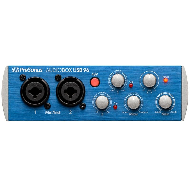 PreSonus AudioBox USB 96 - 2x2 USB 2.0 Recording Interface System with Studio One 3 Artist DAW Software