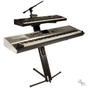 Ultimate Support Apex Series AX-48 Pro Plus Portable Column Keyboard Stand with Boom and Tote (Black)