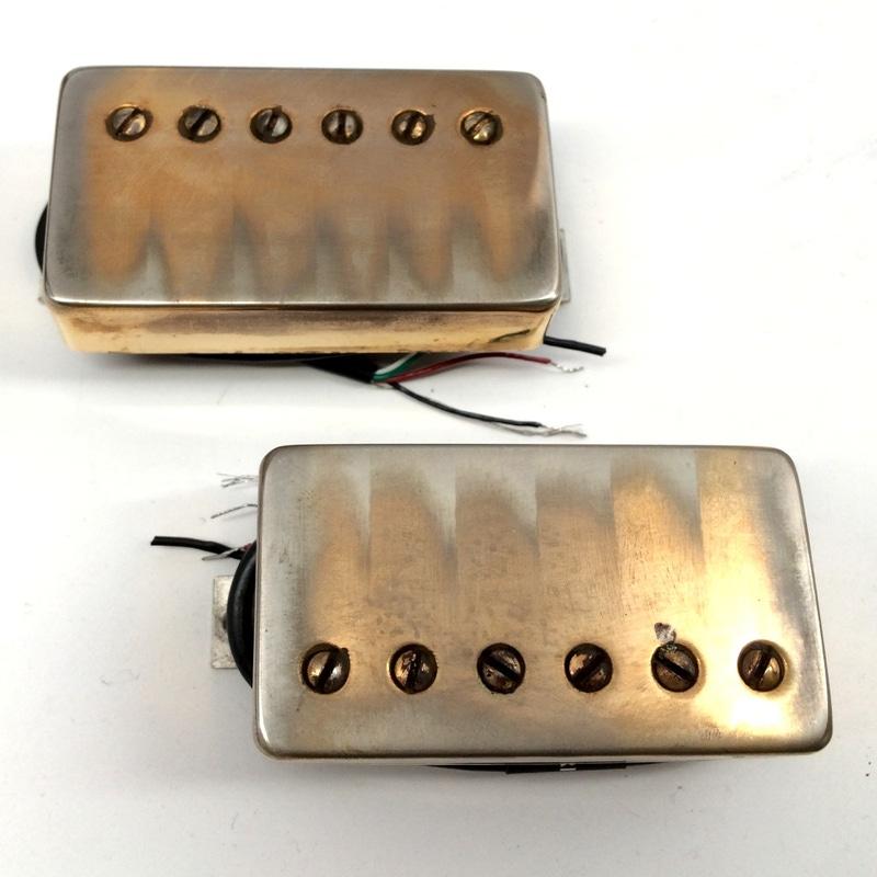 Bareknuckle Pickups Nailbomb Aged Gold Cover Nickel Screws