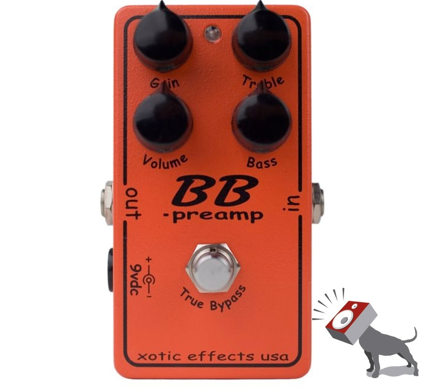 Xotic Effects USA BB Preamp Distortion Overdrive Guitar Effects Pedal