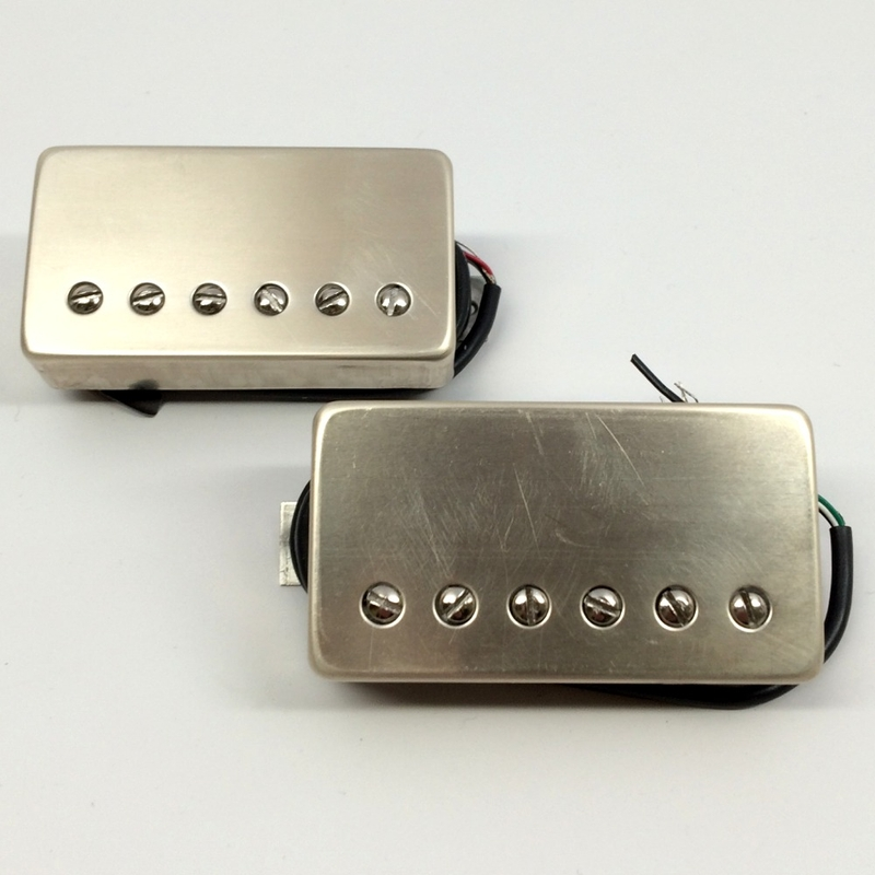 Bare Knuckle The Mule 6-String Calibrated Humbucker Set, 50mm, Short Leg, Raw Nickel Covers