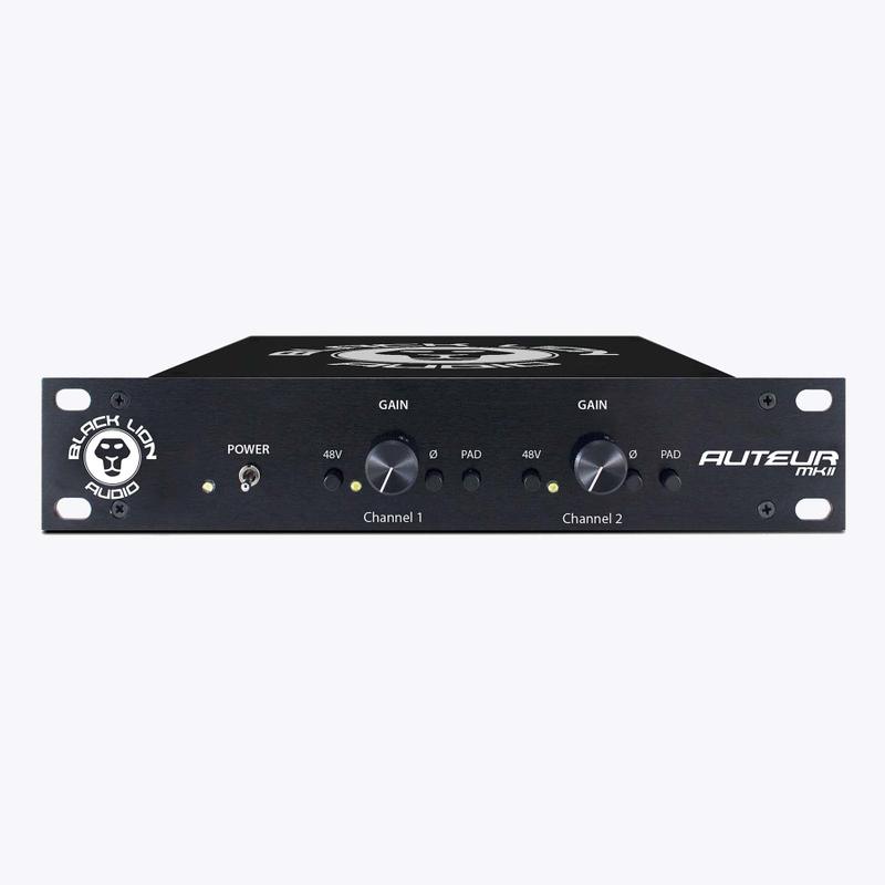 Black Lion Audio Auteur MKII Microphone Preamplifier, Half Rack Size
