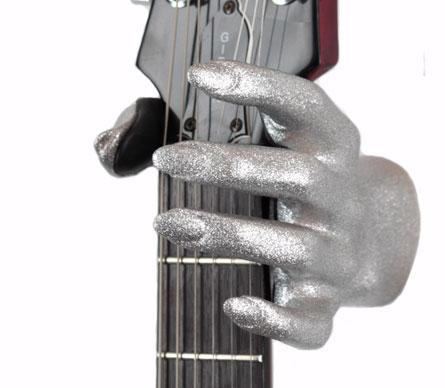 Guitar Grip GSL Series Guitar Hanger  (Silver Bling)