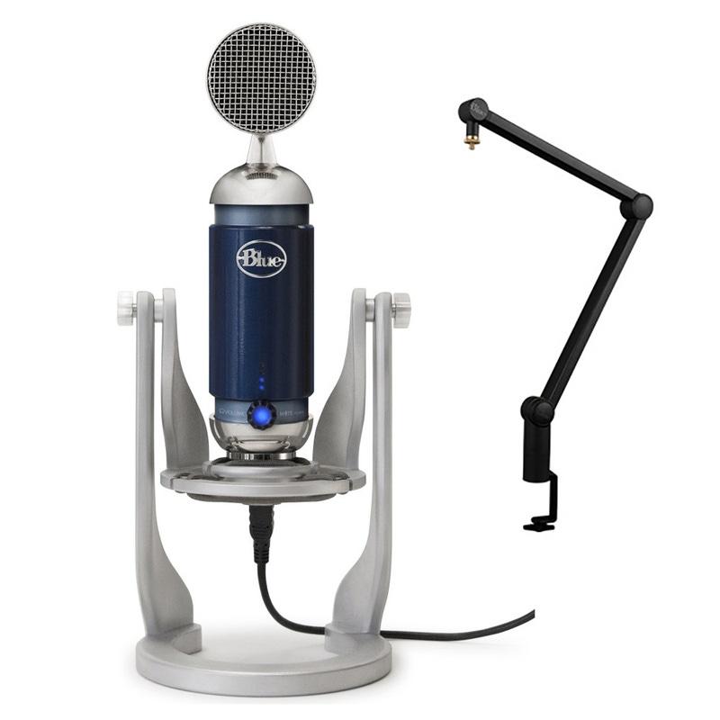 Blue Spark DM Digital Studio Condenser USB Microphone w/ Compass Desktop Stand