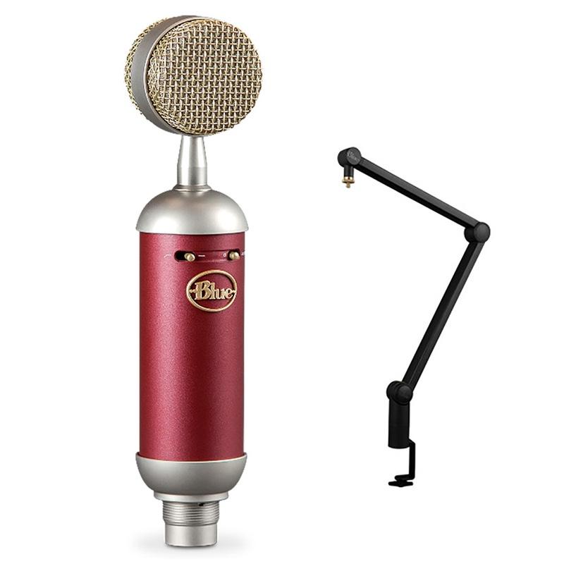 Blue Spark SL Large Diaphragm Studio Condenser Microphone w/ Compass Desktop Stand